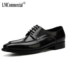 mens business suits youth breathable summer leisure pointed British  High Quality Genuine Leather Shoes Men,Lace-Up Business Men цена 2017