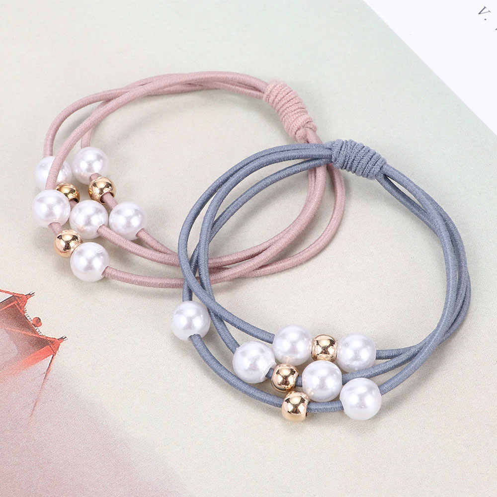 1pc Hair Accessories Pearl Elastic Rubber Bands Ring Headwear Girl Elastic Hair Band Ponytail Holder Scrunchy Rope Hair Jewelry