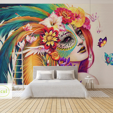 Bacal Custom Wall Mural Art Wall Painting Modern 3D Watercolor Colourful Beauty