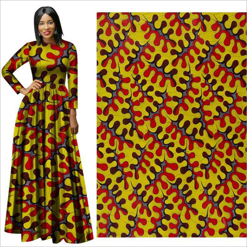 Me-dusa 2019 Latest folk-custom African Print Wax Fabric 100% cotton Hollandais Wax DIY Dress Suit cloth 6yards/pcs High quility(China)