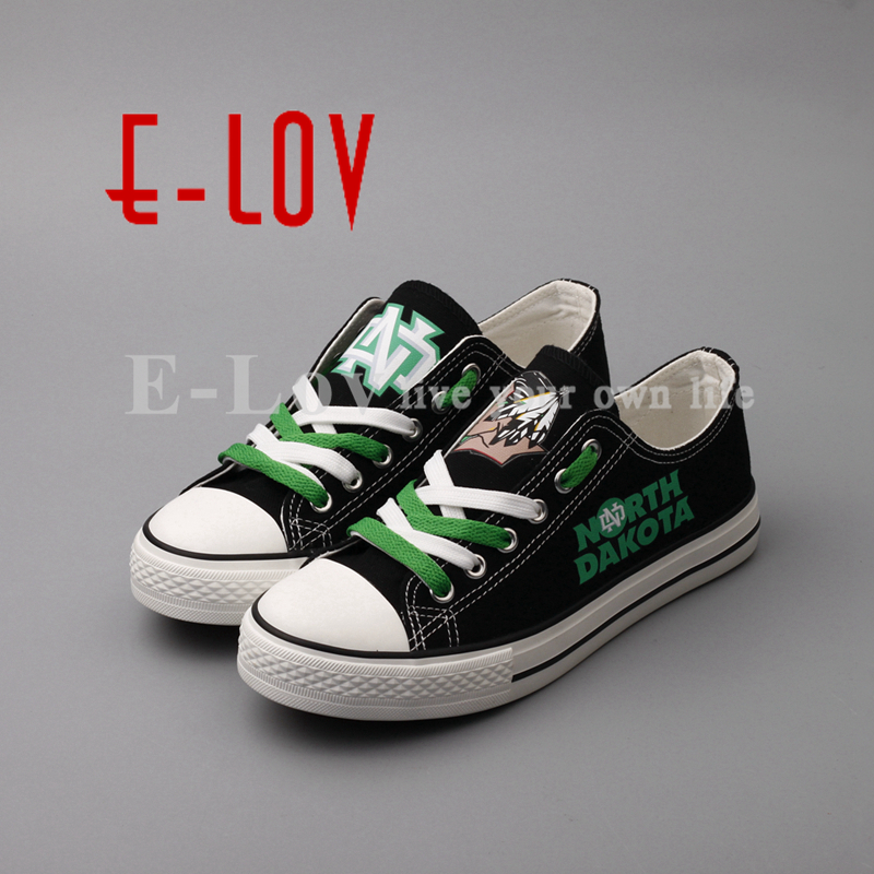 E-LOV Low Top Women Girls Casual Canvas Shoes Printed Black Leisure Shoes High School College Flat Shoe Plus Size cyan soil bay blue white 8 led 8led car emergency dashboard dash strobe lights police warning flash