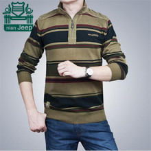 Nian AFS Jeep Classical Style Men's Pullover Striped Original Brand Sweater,Wholesale Price Men's Cargo Knitted underwear Winter
