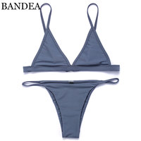 BANDEA Woman Swimsuit 2017 New Color Bikini Brazilian Swimwear Micro Bikini Halter Strap Swimwear Brazilian Bikinis