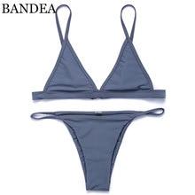 BANDEA Женщины Купальник 2017 Новый Цвет Бразильские Бикини Купальники Микро Бикини Холтер Ремень Купальники Brazilian Bikinis