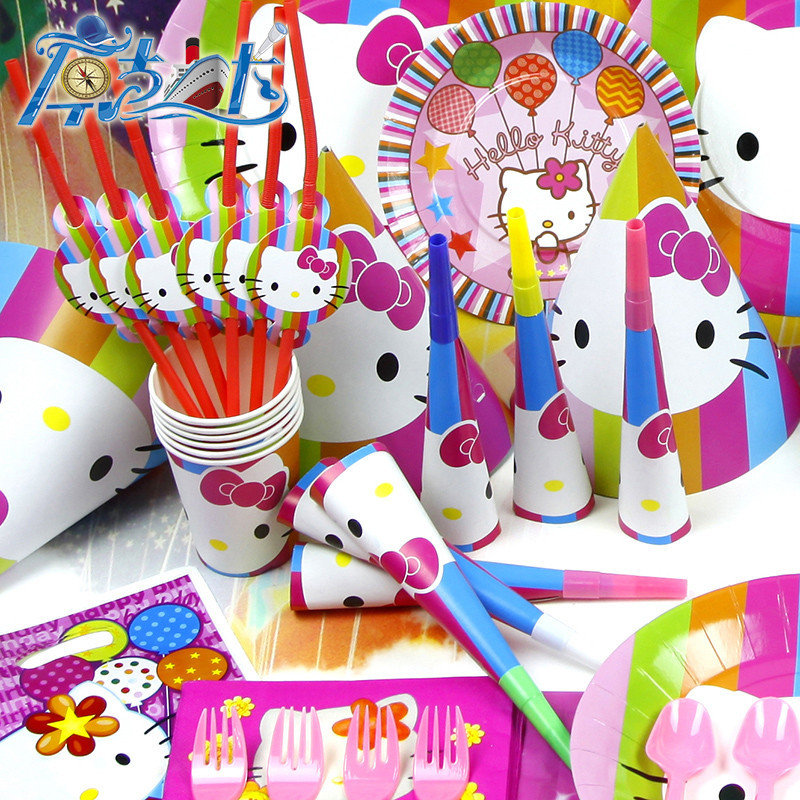 903c4e3a4 78pcs Kids Birthday Party Decoration Set Birthday Hello Kitty Theme Party  Supplies Baby Birthday Party Pack AW 1609-in Disposable Party Tableware  from Home ...