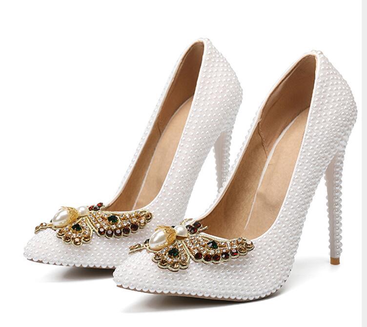 Mode Gesp Kristallen Bling Pompen Vrouwen Elegante Dunne Hoge Hakken Open teen Partij Bruiloft Schoenen Vrouw Goud Zilver-in Hoge Hakken van Schoenen op  Groep 1