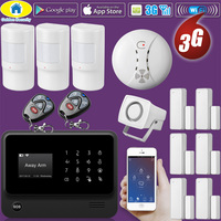 Golden Security G90B Plus WiFi 3G GSM WCDMA Wireless Home Security Burglar alarm System with Smoke Detector