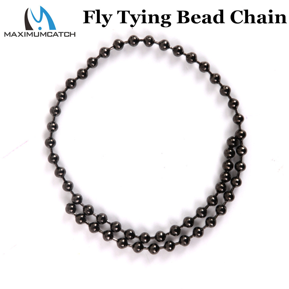 Maximumcatch 3.1mm / 4.1mm Fly Tying Bead Chain სიგრძე 31cm Tying Bead თვალები Metal Fly Fishing Material