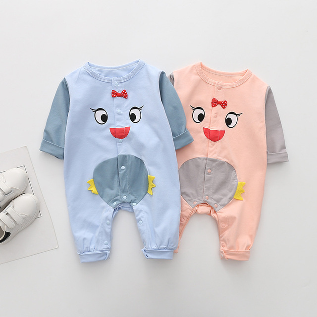 81e4418e4d3 Children Spring Autumn Clothes Long Sleeve Comfortable Cotton Rompers Baby  Animals Chicken Costumes Clothing Bebe Climbing Cloth
