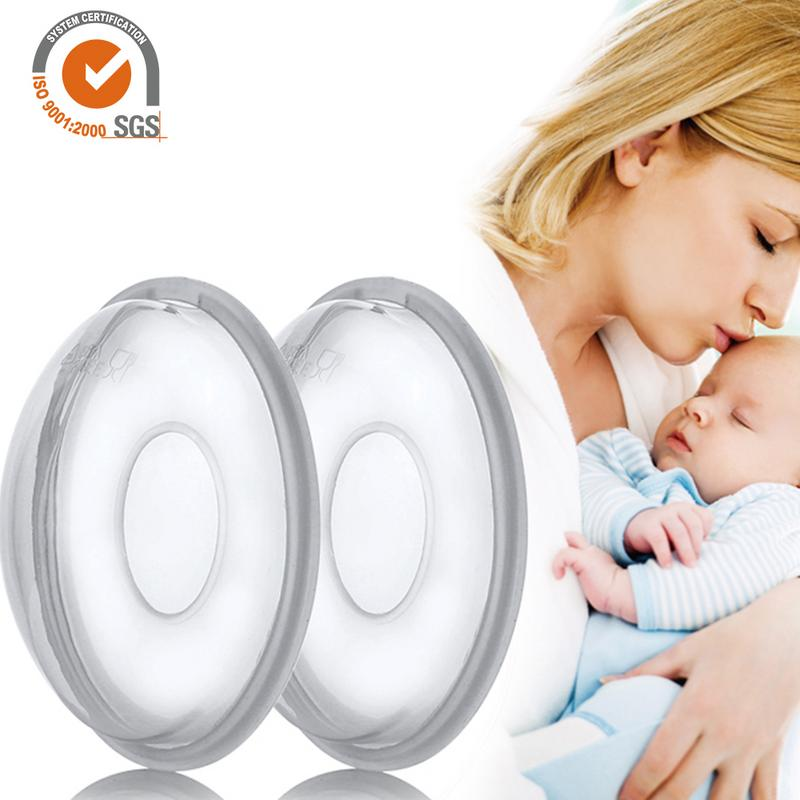2Pcs/set Reusable Anti-Overfill Breast Pad Breast Correcting Shell Nursing Cup Milk Saver Protect Sore Nipples For Nursing Moms