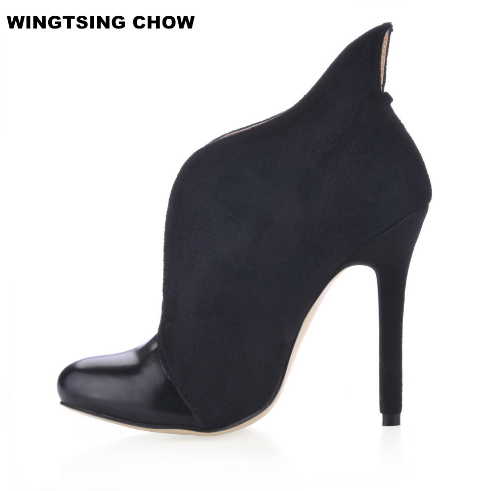 big size 43 autumn ankle boots women pumps sexy high heels. Black Bedroom Furniture Sets. Home Design Ideas