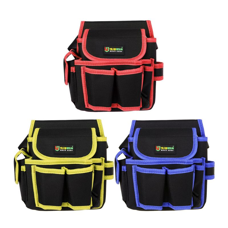 Multi-Pockets Waist Tool Bag Utility Kit Pouch Electricians Belt Bags Organizer 600D Water Proof Cloth Holder
