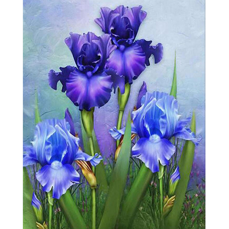 diamond painting purple Cross stitch flowers Diamond Mosaic Pictures YHAll stickers diamond embroidery Diamond Paintings  ZH