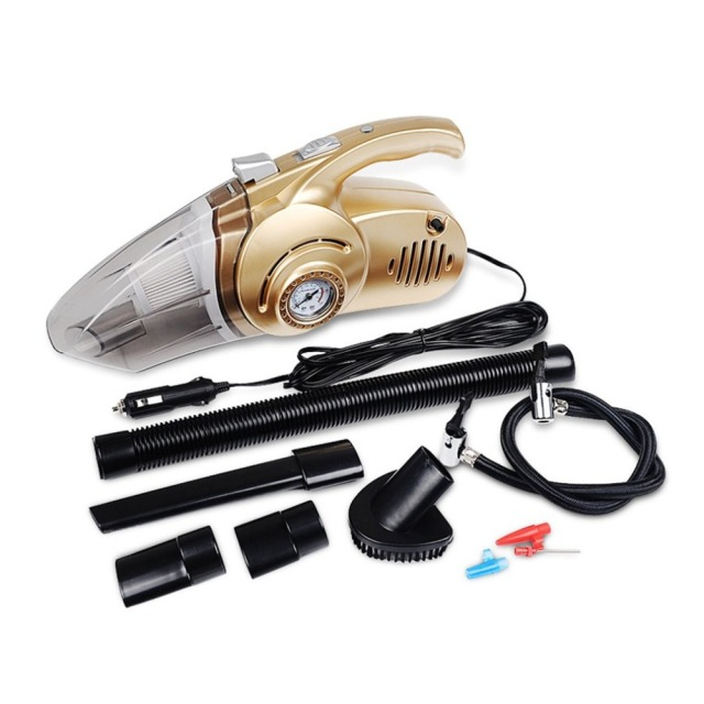 Newest4 in 1 Handheld Car Vacuum Cleaner Dual Use Car Auto Inflatable Pump Air Compressor High Power with Digital Display
