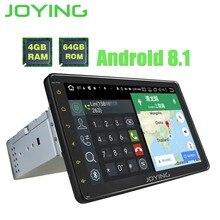 """Joying 4 GB + 64 GB OCTA CORE 8 """"Android 8.1 Radio Stereo 1 Din Auto Lettore Multimediale GPS auto Radio HD Unità di Testa DSP registratore a nastro"""