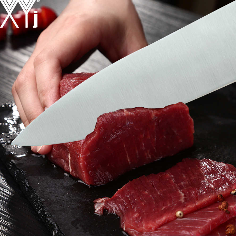 Cuchillo de cocina de acero inoxidable XYj muy afilado, hoja de acero inoxidable 7cr17, cuchillo de cocina para cortar pan Santoku, cuchillos de pelar utilidades