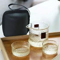 Tragbare Teetassen Teekanne Set Doppel GlassTea Tassen Mit Teekannen Reise Chinesischen Gongfu Tee Glas Tee Tassen Kreative Geschenk Drink-in Teegeschirr-Sets aus Heim und Garten bei