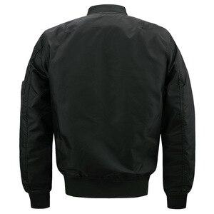 Image 2 - 새로운 망 캐주얼 재킷 육군 군사 비행 파일럿 폭격기 재킷 망 봄 가을 겉옷 군사 재킷 큰 크기 8xl jk103