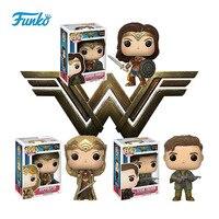 Funko pop Oficial DC Filmes: a Mulher Maravilha, SteveTrevor, hipólita Vinyl Action Figure Collectible Modelo Toy com Caixa Original