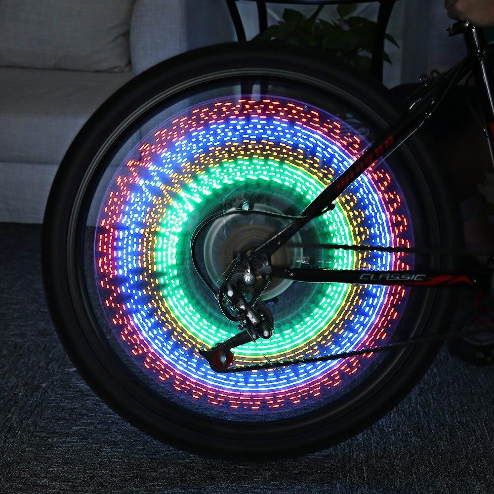 Color wheel online - New Fashion Bicycle 32 Leds 32 Patterns Colorful Flash Wheel Spoke Light Bike Wheel Cool Decoration