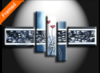 4 pieces wall art canvas abstract oil painting living room wall painting decoration stretched oil painting