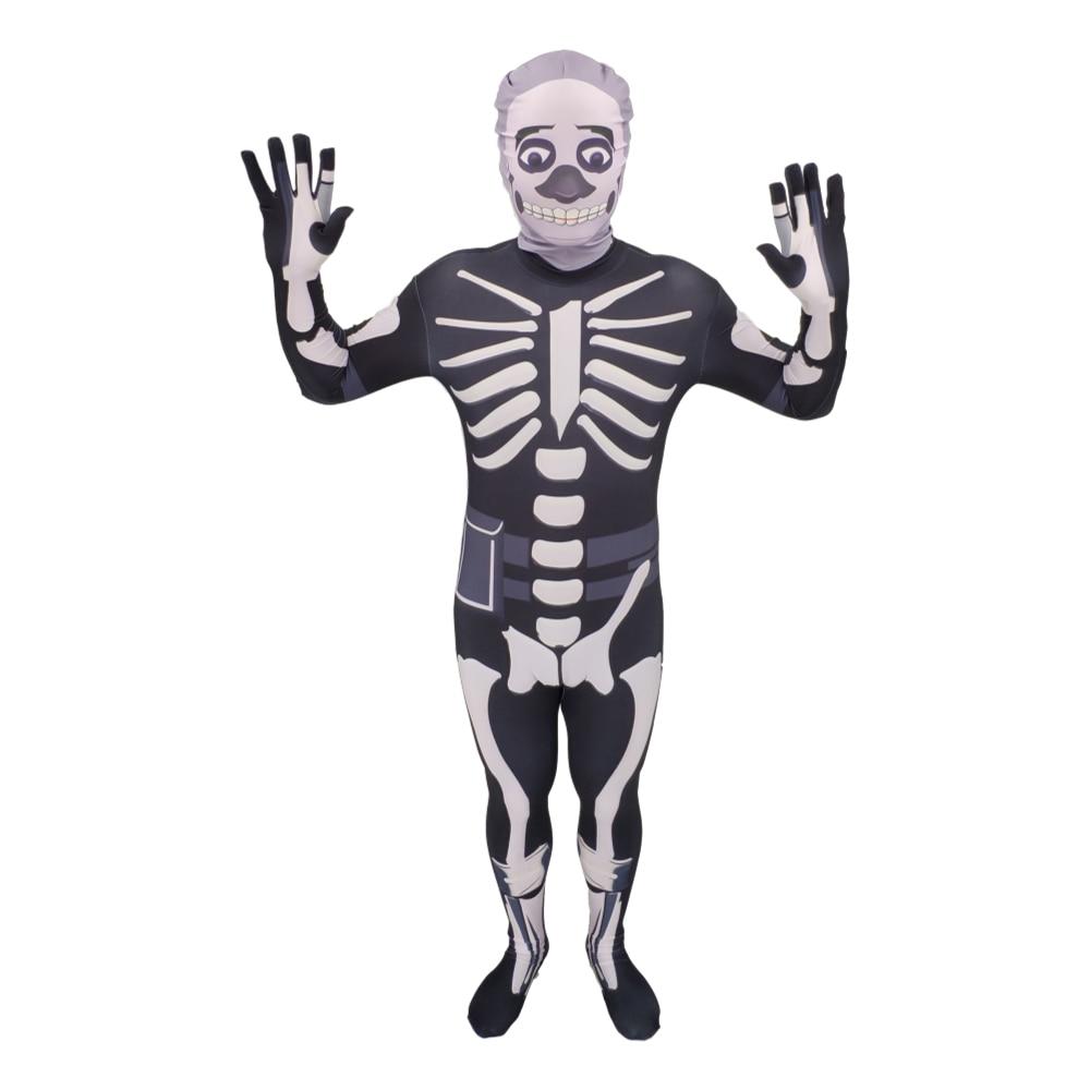 Kids Skull Trooper Merry Marauder Raven Flytrap Skin Decoration kid Party Cosplay Halloween Costume