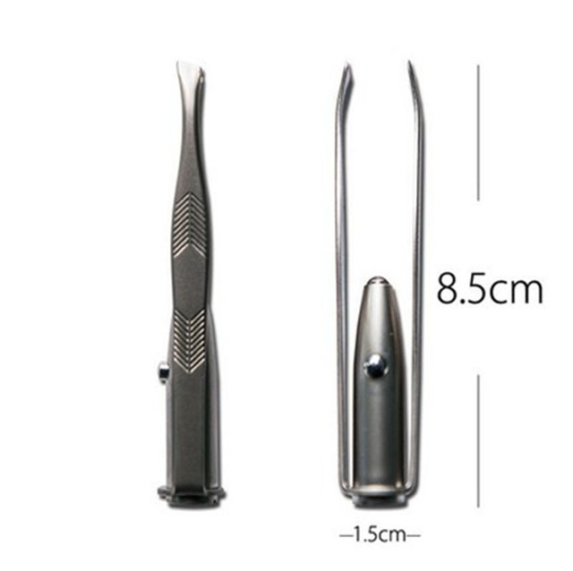 Hot Sale Eyebrow Hair Remover Make Up Led Light Eyelash Eyebrow Hair Removal Tweezer Face Hair Remover Stainless Steel Tweezers 4