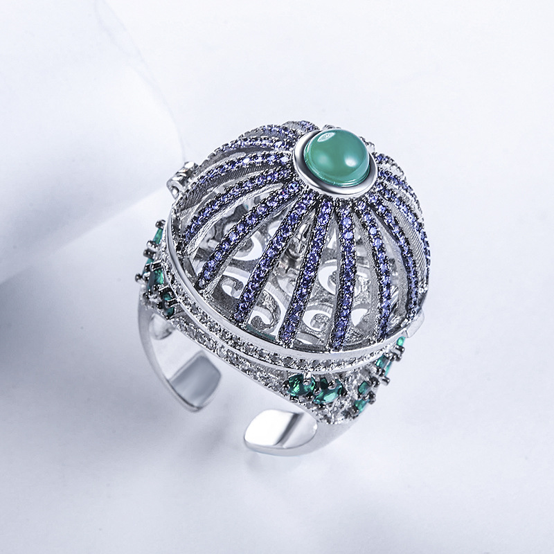 New Design Ideas New Round House Birdcage Rings Big Brand The same bird Turning Rotary Opening Ring