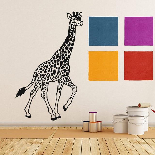 walking giraffe cool handsome wall sticker home decor living room