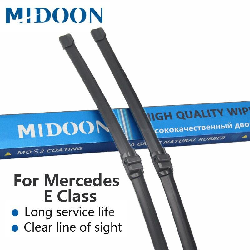 MIDOON Windshield Escovas De Borracha para Mercedes Benz Classe E W211 W212 E200 E250 E270 E280 E300 E320 E350 E400 E420 E450 e500 4 CDI 4matic