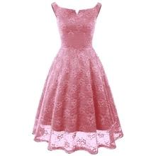 цена на Women Vintage Elegant Embroidery Floral Lace Patchwork Dress Suit vestidos A-Line Pinup Work Party Flare Swing Dress Suit