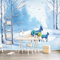 Custom Photo Wallpapers Forest 3D Wall Murals Scenery Animals Tree Bedroom Wall Papers for Living Room Background Landscape 3D