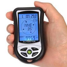 8 في 1 يده الملاحة الإلكترونية لتحديد المواقع البوصلة الارتفاع مقياس الحرارة في الهواء الطلق الصيد بارومتر دون بطاريات