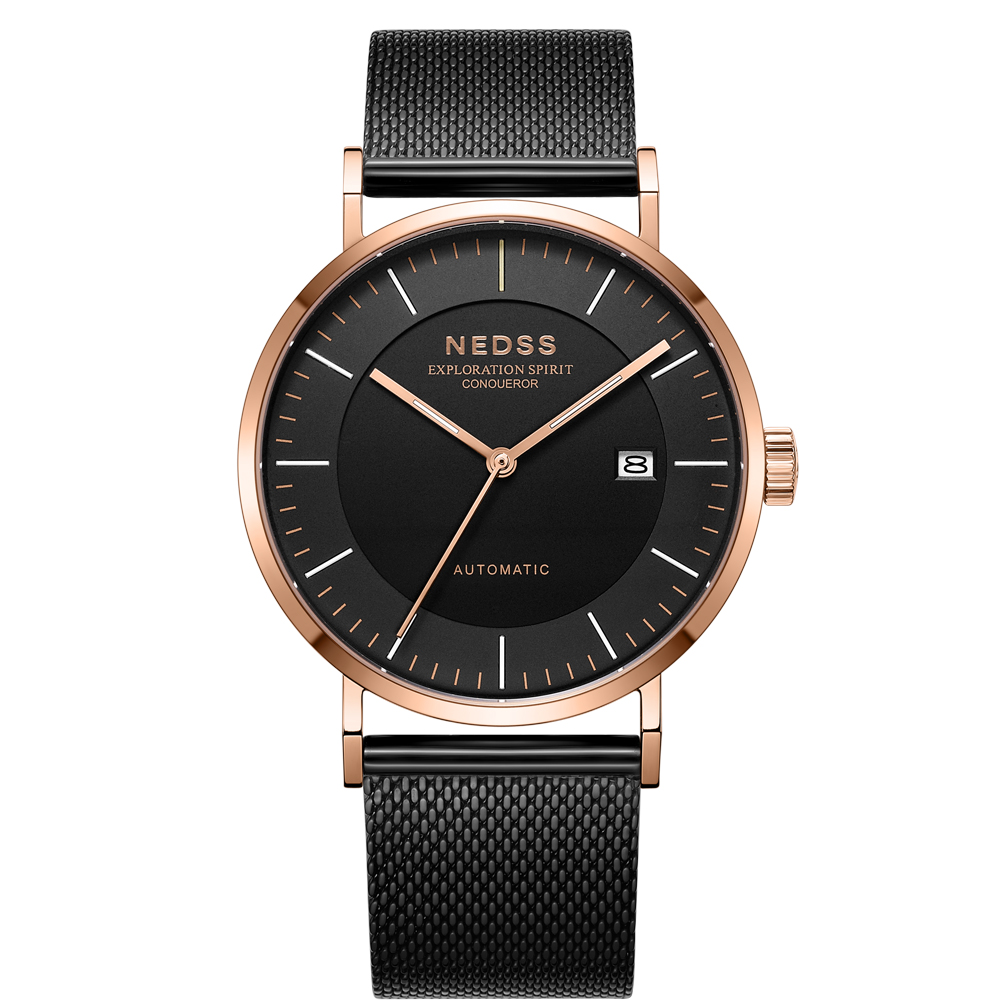 2018 NEDSS High Quality miyota 9015 Automatic mechanical Watches genuine leather watch mens watches 50m waterproof clock watch2018 NEDSS High Quality miyota 9015 Automatic mechanical Watches genuine leather watch mens watches 50m waterproof clock watch