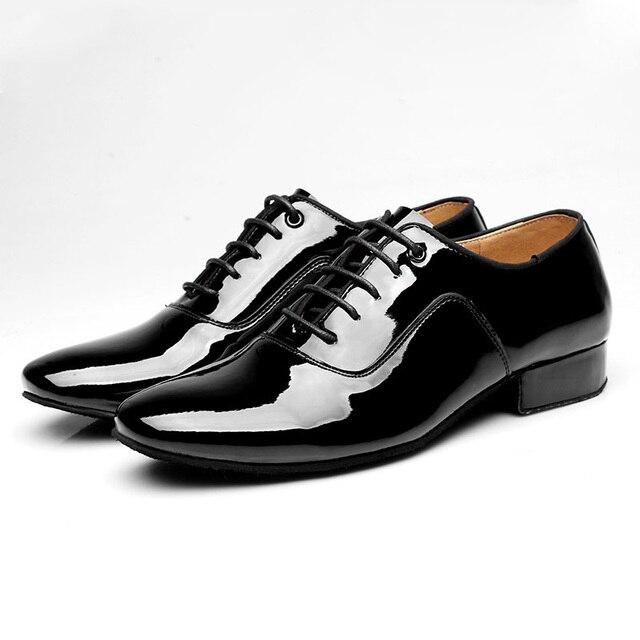 latino danza zapatos para hombres leathe foxtrot deportes zapatos