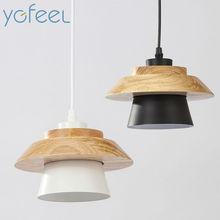 [YGFEEL] Modern Bedroom Pendant Light Home Indoor Lighting Decoration Hotel Room Pendant Lamp Aluminum Wood E27 Lamp Holder
