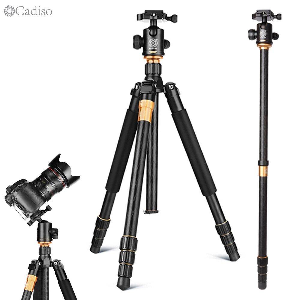 Cadiso Q999 Professional Camera Portable Tourism Tripod For SLR Camera Tripod Kit Monopod Stand Ball Head Monopod For SLR Camera