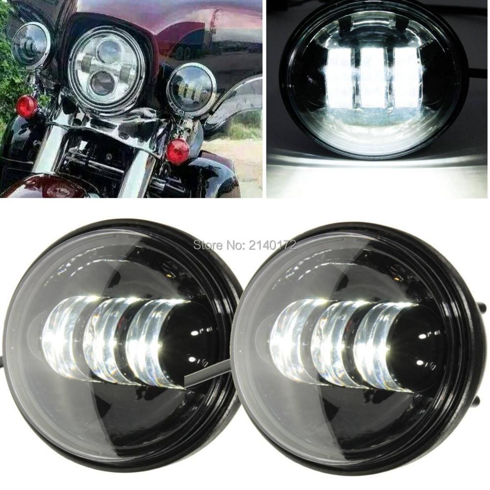 2 UNIDS 4.5 PULGADAS 30 W LED Faros de Motocicleta Equipo de Luz de Niebla Lámpara de Conducción de Trabajo para Harley Accesorio