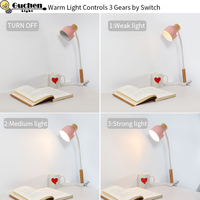 5V USB Desk Lamp Clip Led Clamp On/off Switch Table light notebook Book Reading USB Led Eye Protection reading Iron Wood Night