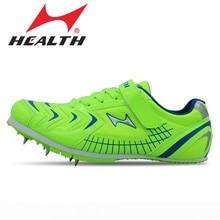 Здоровая детская спортивная обувь для мужчин с шипами, обувь для прыжков, профессиональная обувь для тренировок, мужская спортивная обувь для бега, шипы 35-45