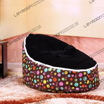 FRETE GRÁTIS tampa do saco de feijão com 2 pcs preto up cover sofá da tela cadeira do saco de feijão do bebê assento do bebê à prova d' água cobrir