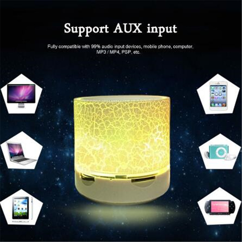 Портативный беспроводной мини LED A9 Bluetooth динамик звуковая коробка сабвуфер колонки для Iphone поддержка TF SD карты PK BTS06 Q9 A9 S28 A5
