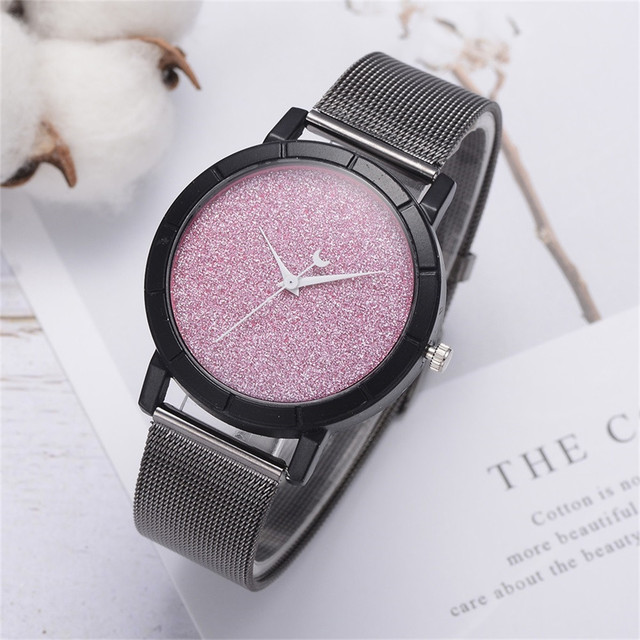 Ladies Watch Woman  Moon Pointer   Alloy  Women Watches Simple  Luxury Brand Fashion  Quartz  Wristwatch reloj mujer 19JAN8