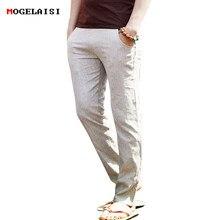 e36a3d0f7c 2018 Flax Pants Men Full Linen Cotton Pants Waistline Range 70-112cm Drawstring  Solid Trousers Men Linen Pants Asian Size M-3XL