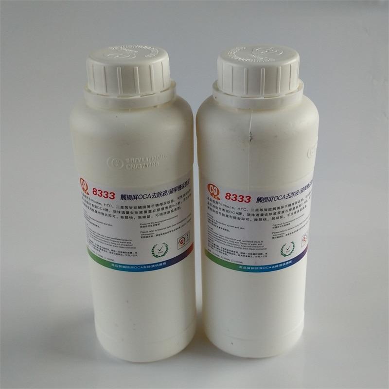 Free shipping 2pcs 8333 500ml touch screen OCA removing liquids Samsung Mac repair liquid solution glue