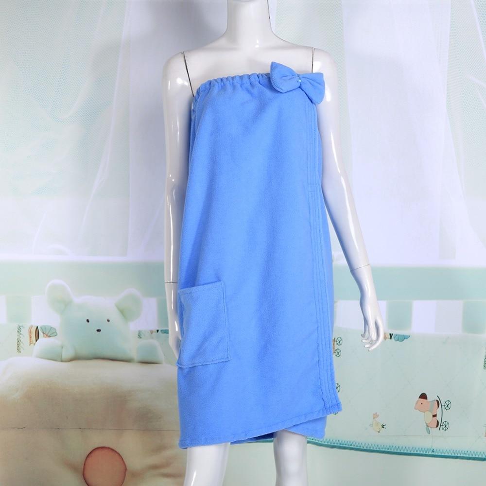 Women Absorbent Microfiber Wrap Bath Towel Korean Version Tube Top ...