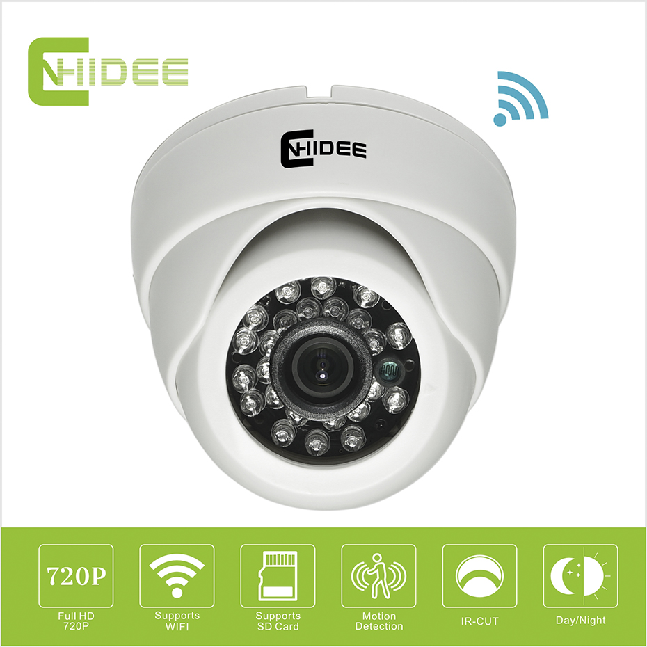 CNHIDEE 720P HD P2P IP Cam Indoor Home micro Security Camera System Wireless Mini Ip Camera Dome Wifi Wi-fi Night Vision TF Card 22mm rail 1x 33mm red dot rifle scope 1 x cr2032