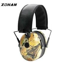 ZOHAN Electronic Earmuff NRR23DB Single Microphone Hunting Earmuffs Tactical Shooting Hearing Protection