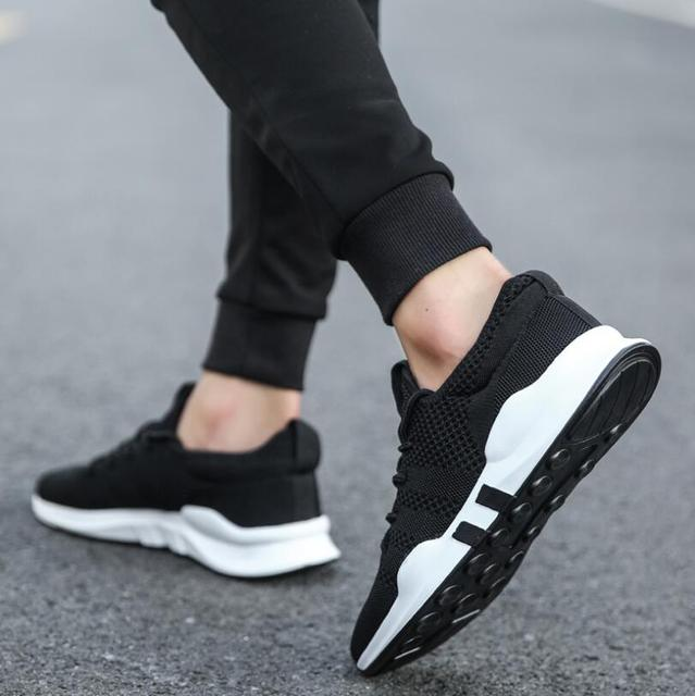 OLOMLB 2019hot men's shoes lightweight sports shoes breathable non-slip casual shoes adult fashion shoes Zapatillas Hombre black