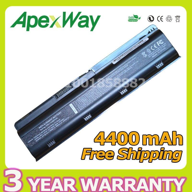Apexway 4400 mAh de la batería para HP Compaq Pavilion G6 G4 G61 G7 DM4 DV3 DV5 DV6 DV7 CQ42 CQ43 CQ62 CQ72 MU06 593553-001 hstnn-lb0w